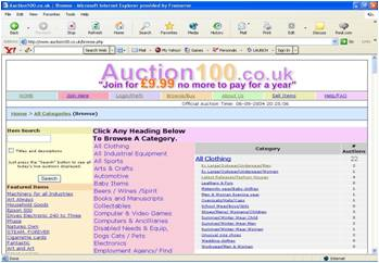 Auction Home Page